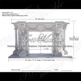 Binnen Marmeren Open haard mfp-1030 van Carrara van het Graniet van de Steen Witte