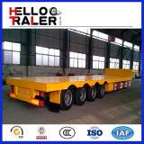 Tpm 100つの4の車軸掘削機の輸送の頑丈で低いベッドのトレーラー