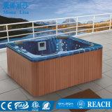 De openlucht Vierkante Ton van 5 Mensen Whirlpool Massage SPA (m-3321)