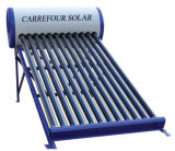 Chauffe-eau de système de Geyer de tube de chaufferette d'eau chaude solaire non-pressurisée évacuée/capteur solaire