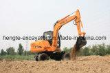 Excavador rodado con el compartimiento 0.3m3 7 toneladas