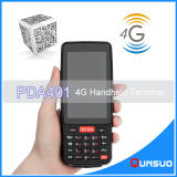 4inch 4G PDA industrial robusto PDA androide 1d Barcode Scanner POS para el almacén