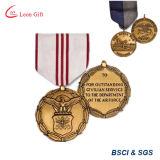 Costume da fábrica a medalha de ouro branca da casa com fita