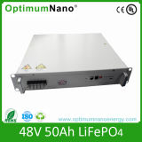 Détruire la batterie du modèle 48V 50ah LiFePO4 pour des télécommunications avec RS232&485