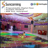 Portable colorido Dance Floor do diodo emissor de luz do RGB do disco