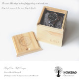 Caja de embalaje del color del precio de fábrica de Hongdao del regalo de madera de lujo sólido natural del reloj para el _E de la venta