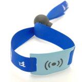 Bracelet tissé par seurity de l'IDENTIFICATION RF NFC NTAG215 NTAG213 de festival d'événements