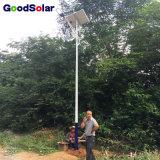 IP65 20W 30W a 200W impermeabilizan la luz de calle solar en lámpara ligera al aire libre del LED