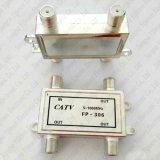 divisore 1 di modo 5-1000MHz 3 3 fuori nel tipo porta dell'accoppiatore F del segnale della TV CATV