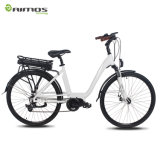 Bici eléctrica de la ciudad del motor impulsor 700c de la bici eléctrica de la ciudad del OEM China de Aimos MEDIADOS DE