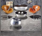강화 유리 상단을%s 가진 둥근 커피용 탁자