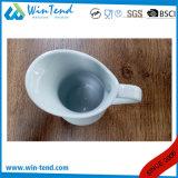Jarro blanco al por mayor de la jarra de la leche de la comida fría de la porcelana