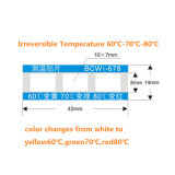 OEM 자동 접착 열 온도 표시기