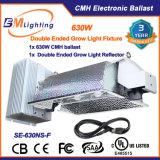 dobles 630W terminados crecen la iluminación del invernadero del dispositivo ligero para las plantas de interior