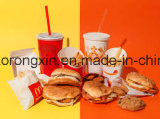 Ein/Two Sides PET Coated Paper für Burger King Packaging
