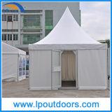 tenda esterna del Pagoda del PVC di bianco di 5X5m con il portello di vetro per la cerimonia nuziale