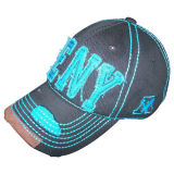6 Panel Washed Baseball Cap with Logo Bb100