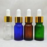 cuentagotas de cristal del oro de 18m m para las botellas de petróleo esencial