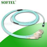 FTTX 해결책 공급자 /12 코어 섬유 광학적인 MPO-LC 접속 코드