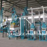 Machine de minoterie de maïs de Fufu Ugali 10-100tons