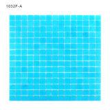 Materiale da costruzione di vetro blu delle mattonelle di mosaico della piscina delle colonne