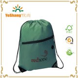 Printed fait sur commande Promotion Nylon Drawstring Backpack avec Front Zipper Pocket