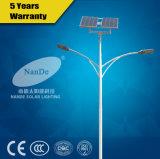 Il doppio munisce l'illuminazione solare della via LED con il certificato IP65 del Ce