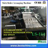 機械、アイスクリームの棒機械を配列する氷のスプーンの棒順序