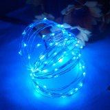 원격 제어를 가진 요전같은 빛 훈장 LED DC 구리 철사 끈 빛