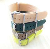 Correa de reloj del acero inoxidable de Yxl-453 18m m, Wristband de nylon de encargo del reloj de las correas de la venda de la OTAN de la correa de reloj del OEM de la correa del reloj de las señoras