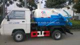 Petit camion d'eaux d'égout du camion 4X2 Forland 3 Cbm d'aspiration de vide