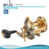 Palan de pêche de pêche à la traîne portant de bobine de pêche du corps 3+1 en aluminium de Pluton A6061-T6 pour la pêche maritime (Pluton 351)