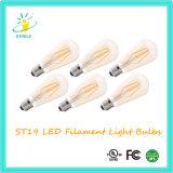 Bulbo do Tawny do bulbo do filamento do diodo emissor de luz de Stoele St18/St58 110V/220V Dimmable