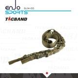 Tacband SL04 Hochleistungszwei Punkt-taktischer Federelement-Riemen-olivgrüne graubraune