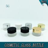 5ml小さい円形の装飾的なガラスクリーム色の瓶のガラスビン