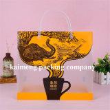 Пакет мешков кофеего PVC роскошного печатание конструкции пластичный с ручкой (мешок пакета кофеего)