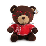 2016 juguetes encantadores de la felpa del oso del peluche de los vidrios del nuevo diseño con la camiseta