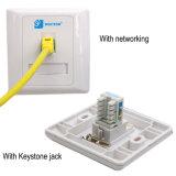 Plaque signalétique modulaire 86 * 86 RJ45 Jack, plaque frontale simple / 2 ports