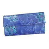 Fani выбило бумажник повелительниц конструкции цветка кожаный с портмонем изменения