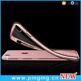 Crystal Clear electrochapada del caso de TPU teléfono para el iPhone 7/6 Plus