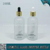 botella de cristal cosmética helada 100ml del cuentagotas para el petróleo esencial