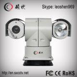 câmera de alta velocidade do CCD do carro de polícia PTZ do IR da visão noturna de 100m