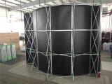 Aluminiumpole-ABS-Belüftung-Panel-gerade Ausstellung knallen oben Standplatz-Bildschirmanzeige