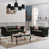 Mobilia di legno del retro sofà di cuoio per il salone
