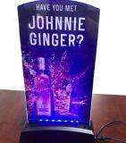 Menú puesto a contraluz de acrílico del rectángulo ligero de la decoración LED del restaurante de la tarjeta del hotel