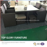 Rattan mesa de comedor jardín y la silla de ahorro de espacio cubo comedor conjuntos (TG-8061)