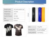 Vinyle de presse de la chaleur de transfert thermique de roulis de PVC pour le vêtement