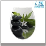 Blume gedruckter uF-Toiletten-Sitz