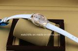 Печатание цветка с wristwatch повелительниц кварца способа диаманта