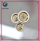 Bouton coloré de pardessus de bord d'or de placage de bouton de chemise de résine